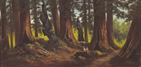 figures in the redwoods by frederick von luerzer