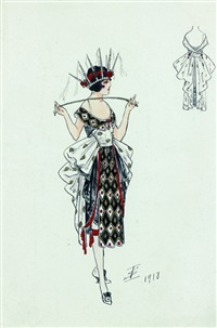 projet de costume (femme munie d'une cravache) by igor sokoloff