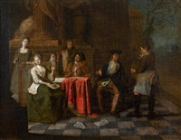 le concert impromptu by jan josef horemans the younger