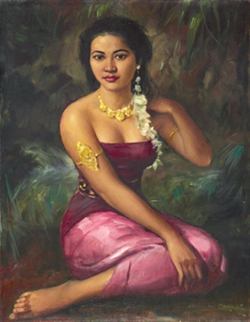 portrait of a dancer by raden basoeki abdullah