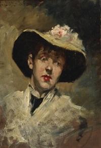 portrait of mrs. helen cox by kenyon c. cox