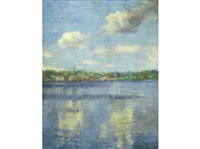 untitled - lake view of village by beatrice hagarty robertson