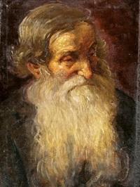 szakállas férfi portréja by ferenc lipóth