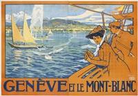 genève et le mont-blanc by edouard elzingre