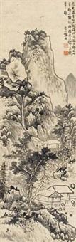 溪山高隐图 (landscape) by yun xiang