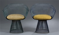 dining chairs (2 works) by warren platner