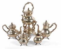 tea and coffee service (set of 5) by carlo mario camusso