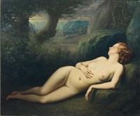 bacchante endormie by stanislas martougen