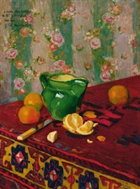nature morte aux oranges by georges daniel monfreid