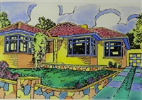 untitled (suburban home) by howard arkley