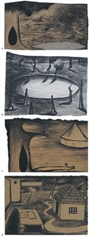 untitled (+ 3 others; set of 4) by n.n. rimzon