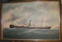 le crucy en mer, vapeur mixte by victor charles edouard adam