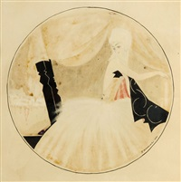 kobieta przy toalecie by tadeusz gronowski
