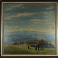 weite landschaft by hermann poschinger