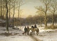 begegnung am winterabend by caesar bimmermann