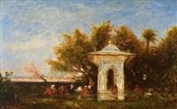 fontaine de la sultane mihrisah, eaux douces d'asie by félix ziem
