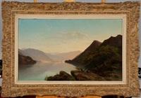 le soir au lac de lucerne (suisse) by jean francois xavier roffiaen