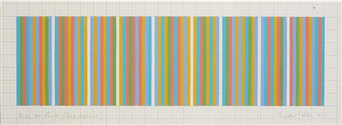 study for painting long sequence by bridget riley