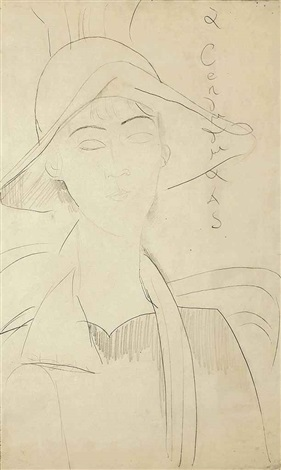 portrait de gabrielle by amedeo modigliani