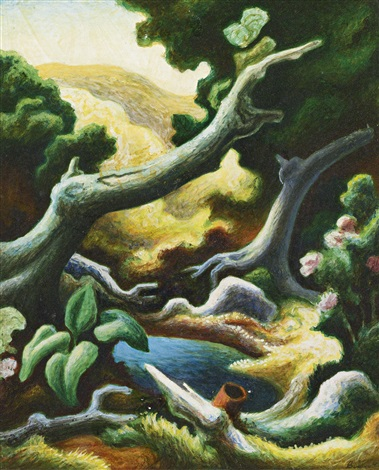 pool in the woods by thomas hart benton