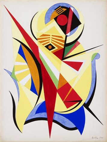 trois oppositions polaires by auguste herbin