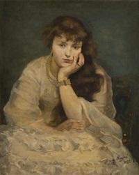 jeune fille à la parure de perles by jean mayne