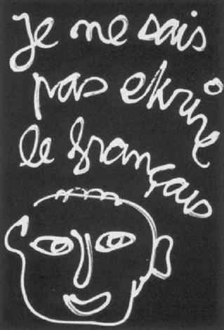 je ne sais pas ekrire le francais by ben vautier on artnet