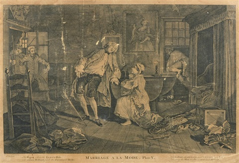 marriage a la mode 6 works by william hogarth