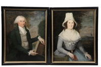 aristocratic couple (pair) by anonymous-american-colonial