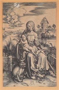 die jungfrau mit dem kind und dem affen, nach albrecht dürer by hieronymus wierix