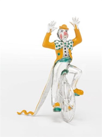 a group of american silver and enamel circus figures designed by gene moore for tiffany co new york circa 1990