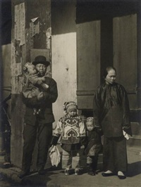 family group, chinatown, san francisco * asian child holding the hand of an adult, san francisco (2 works) by arnold genthe