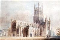 a view of gloucester cathedral by thomas hosmer shepherd