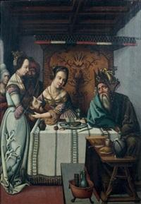 hérodiade et salomé présentant au roi hérode la tête de saint jean-baptiste by anonymous (16)