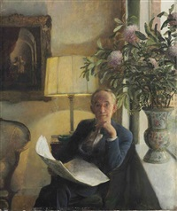 portrait of the artist's father by john koch