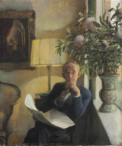portrait of the artists father by john koch