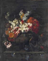 fleurs dans un vase by gaspar pieter verbruggen the elder