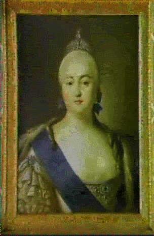 portraet af elisabeth petrovna, 1709-1782, kejserinde af  rusland 1741-1762, datter af peter den store og katharina i by virgilius erichsen