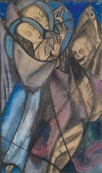 memento mori (design for stained glass) by margret bilger-breustedt
