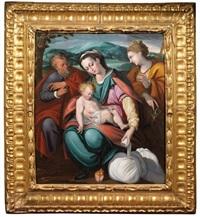 sacra famiglia con santa caterina d'allesandra by orazio samacchini