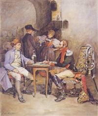partida de cartas en la taberna by jules badin