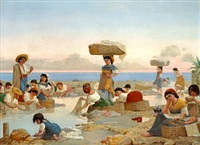 italiensk vaskeri-scene by axel viggo wormer