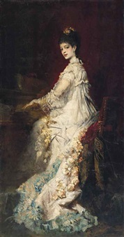 portrait of maria, countess von dönhoff by hans makart