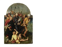 the road to calvary (+ the betrayal of christ; pair) by marcellus coffermans