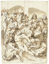 the descent from the cross by jacopo zucchi
