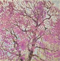 trees in flower by alexandr nikolaevich samokhvalov