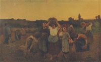 the recall of the gleaners, artois by jules breton