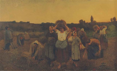 the recall of the gleaners artois by jules breton