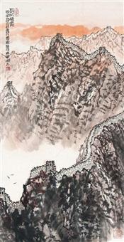 山水 镜片 设色纸本 by jiang baolin