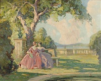 women in the park by camillo adriani